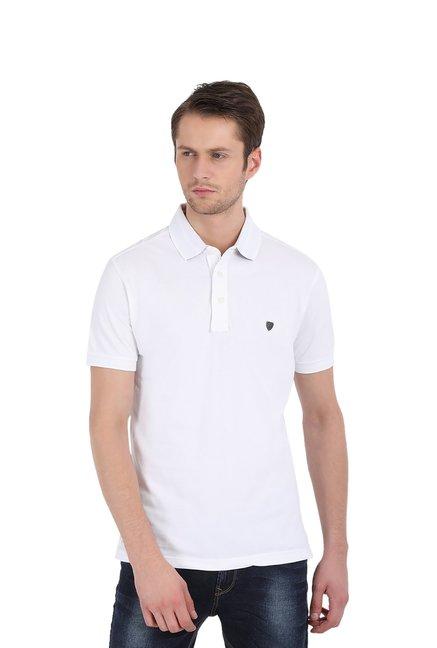 John Players White Polo T Shirt