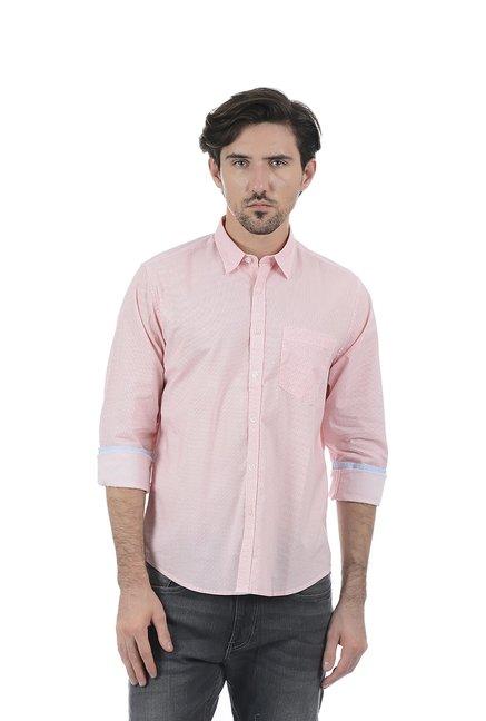 a1c614b8f3 Buy Pepe Jeans Red Regular Fit Shirt for Men s Online   Tata CLiQ