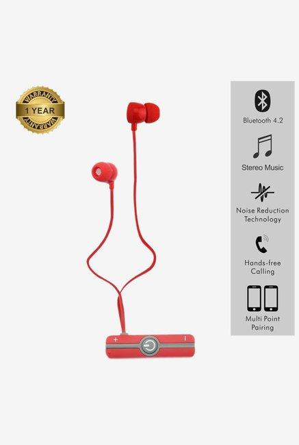 Portronics Harmonics 206 Por 837 Wireless Earphone  Red