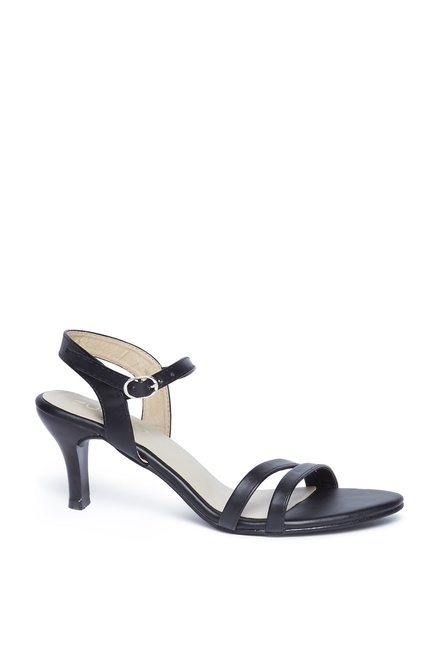 f07a5fffe7a Buy Zudio Black Kitten Heel Sandals for Women Online   Tata CLiQ