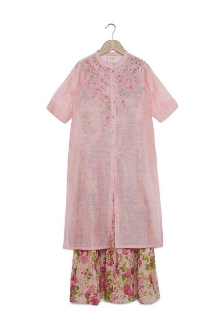 61cb653cf Buy Utsa Kids by Westside Peach Dress Set for Girls Clothing Online ...
