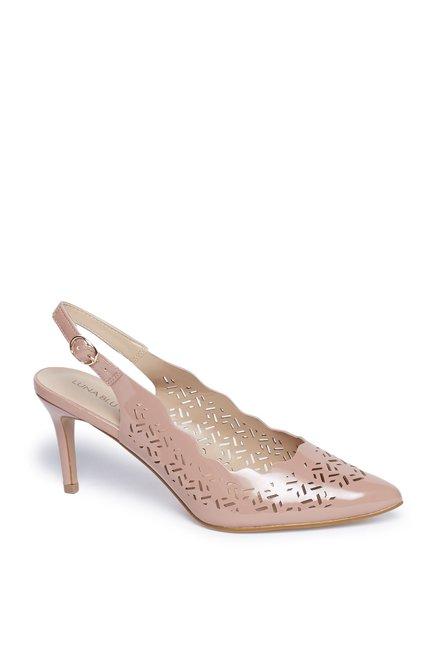 6ab251b0fc9e8 Buy LUNA BLU by Westside Blush Pink Laser Cut Stiletto Heels Sandals for  Women Online   Tata CLiQ