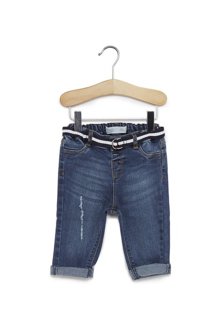 96cb2fbc74cb6 Buy Baby Hop by Westside Blue Rick Jeans With Belt for Infant Boys Clothing  Online @ Tata CLiQ