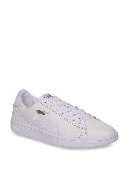 Buy Puma Smash V2 L Plus White Sneakers