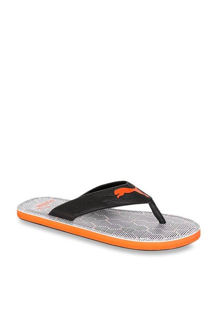 e9feb598c765 Buy Puma Ketava Graphic V2 Black   White Flip Flops for Men at Best ...