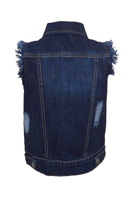 cdecc9a87d2f Buy Tales   Stories Kids Dark Blue Summer Jacket for Infant Boys ...