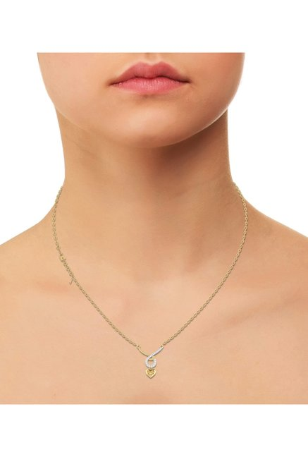 PC Jeweller Infinite Love 22 kt Gold Pendant with Chain