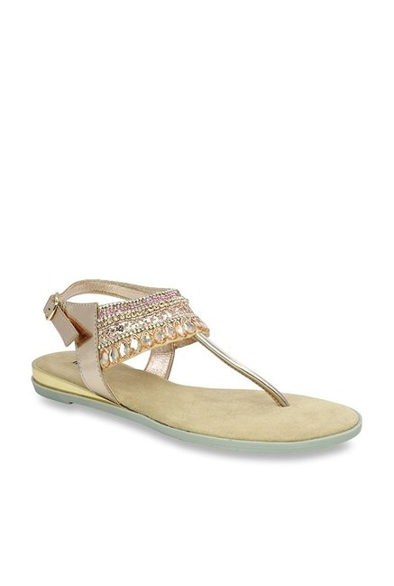 5f848f1410fe Buy Inc.5 Rose Gold T-Strap Sandals for Women at Best Price   Tata ...