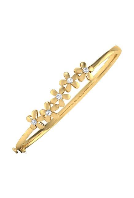 902d01cba Buy CaratLane Daffodils 18 kt Gold & Diamond Bracelet Online At Best Price  @ Tata CLiQ