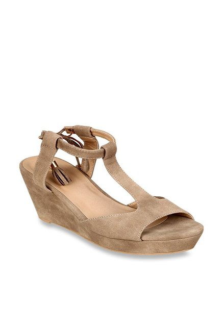 c5b3521b32d9 Buy Lavie Brown Ankle Strap Wedges for Women at Best Price   Tata ...