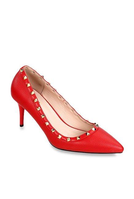 70a76bfbd55 Buy Lavie Red Stiletto Pumps for Women at Best Price   Tata CLiQ