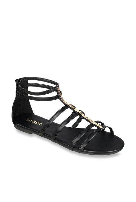 4e27046b143 Buy Lavie Black Gladiator Sandals for Women at Best Price   Tata CLiQ