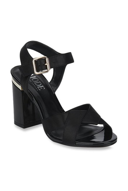 8807f1e6cfb Buy Mode by Red Tape Black Ankle Strap Sandals for Women at Best Price    Tata CLiQ