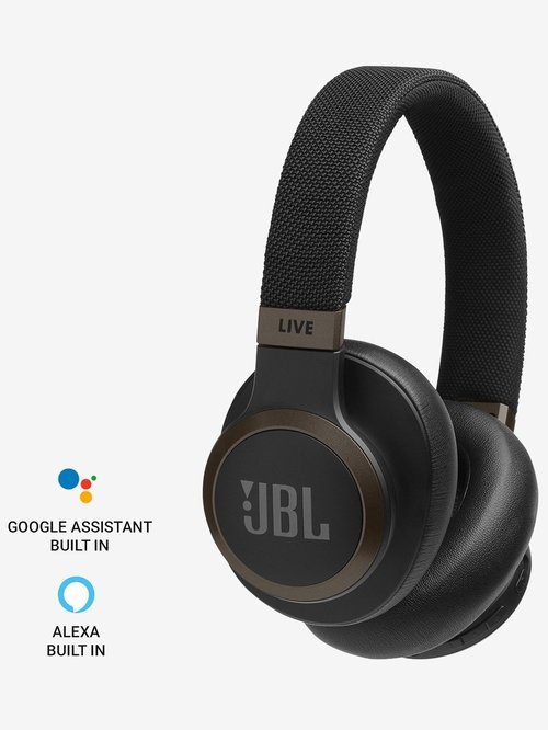 JBL LIVE 650BTNC Bluetooth Over The Ear Headphone with Mic (Black)