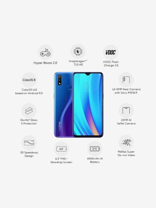 RealMe 3 Pro 64 GB (Nitro Blue) 4 GB RAM, Dual SIM 4G