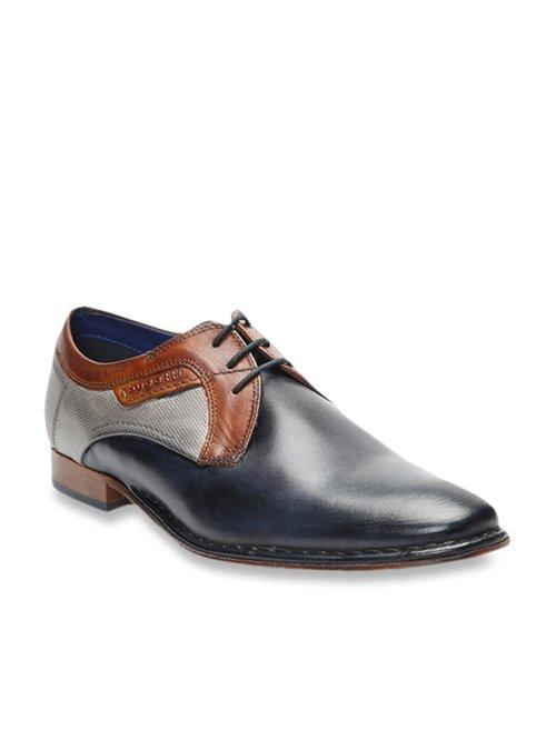 Buy Bugatti Navy \u0026 Grey Derby Shoes for