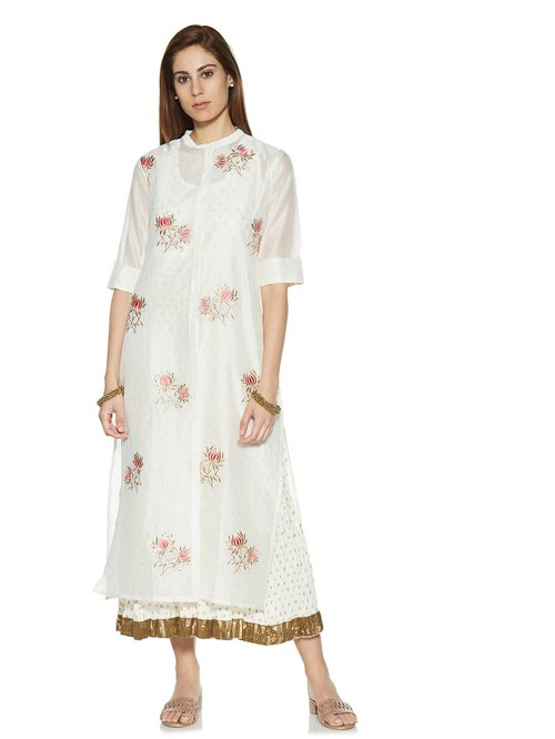 83ea80965 Buy Vark by Westside White A-Line Kurta And Maxi Dress Set for Women Online  @ Tata CLiQ