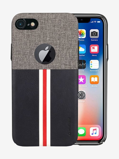 Stuffcool Eto PU Leather Back Case Cover for Apple iPhone 8iPhone 7  GreyBlack