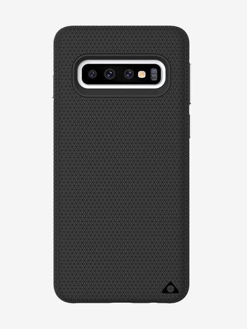 "Stuffcool Spike Dual Layer Hard Back Case Cover Samsung Galaxy S10 (6.1"") 2019 (Black)"