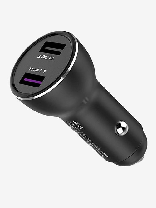GIZMORE GIZCC702 3A Dual Port Car Charger  Grey