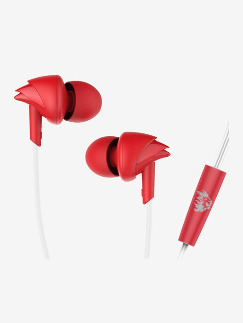 Boat 100 Kings XI Punjab Edition Wired Earphones with Mic (RedWhite)