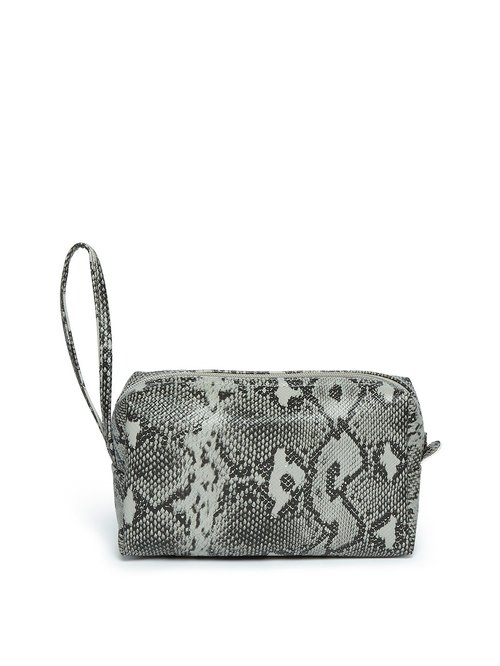 Westside Pewter Animal Patterned Cosmetic Travel Pouch