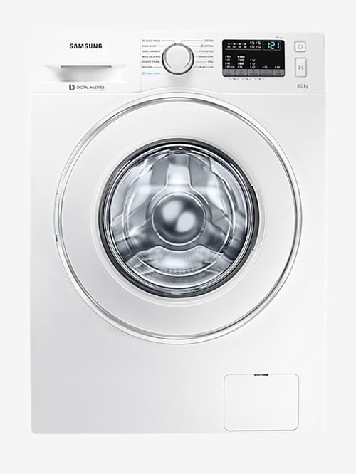 Samsung 8 kg Inverter Fully Automatic Front Load Washing Machine with Heater  WW80J44G0IW,White
