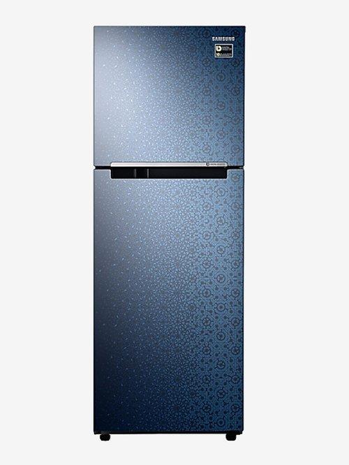 Samsung 253 L Inverter 2 Star  2019  Frost Free Double Door Refrigerator  Ombre Blue, RT28N3022MUHL