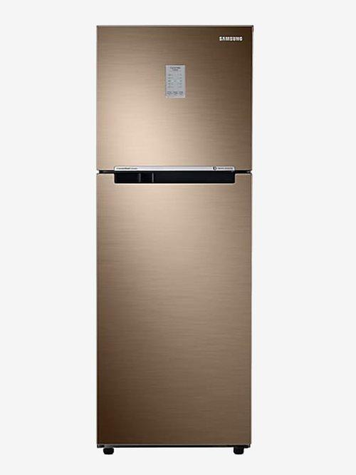 Samsung 253 L Inverter 3 Star Frost Free Double Door Refrigerator  Luxe Bronze,RT28R3753DU
