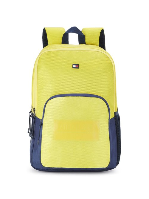 Tommy Hilfiger Mud Yellow Polyester Backpack
