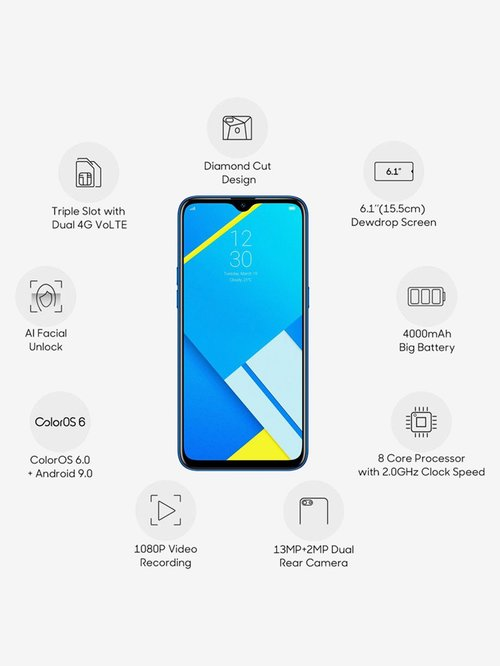 RealMe C2 16 GB (Diamond Blue) 2 GB RAM, Dual SIM 4G