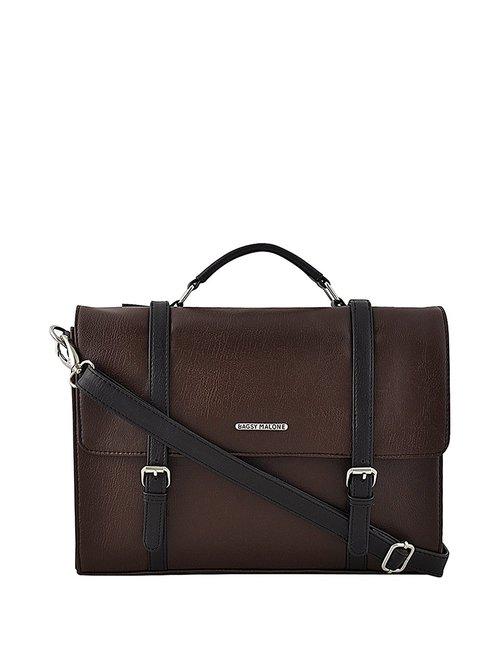 Bagsy Malone Dark Brown Laptop Messenger Bag