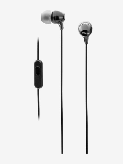 Sony Mdr Ex14Ap Wired Earphones With Mic  Black