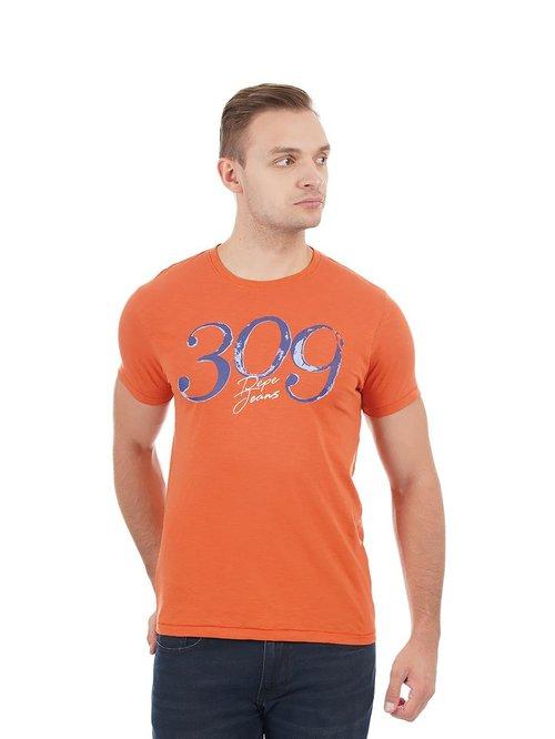 Pepe Jeans Orange Crew T-Shirt