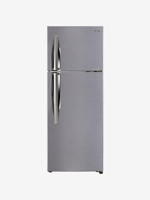 LG 284 L Inverter 3 Star Frost Free Double Door Refrigerator  Shiny Steel, GL C302KPZY