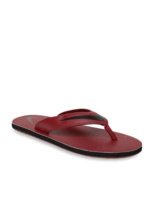 wholesale dealer a1f40 e8a3e Buy Nike Chroma Thong 5 Red Flip Flops for Men at Best ...