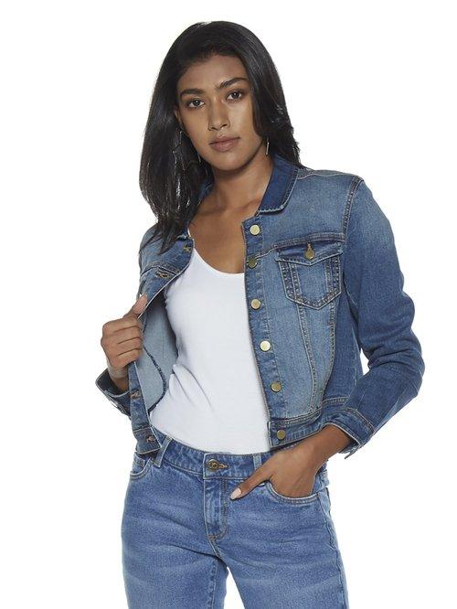 872757004 Buy Nuon by Westside Blue Denim Jacket for Women Online @ Tata CLiQ