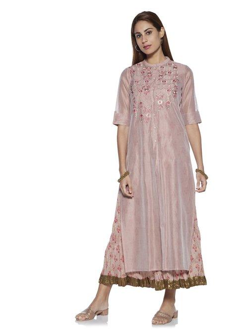 00ec4630c Buy Vark by Westside Dull Pink Straight Kurta With Maxi Dress for Women  Online @ Tata CLiQ