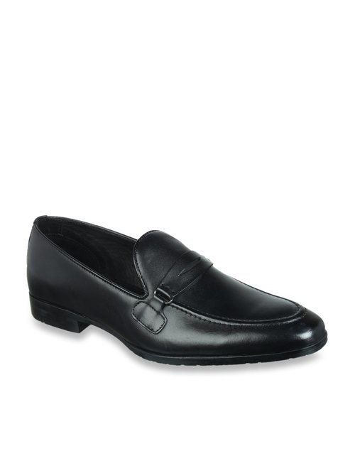 black formal loafers