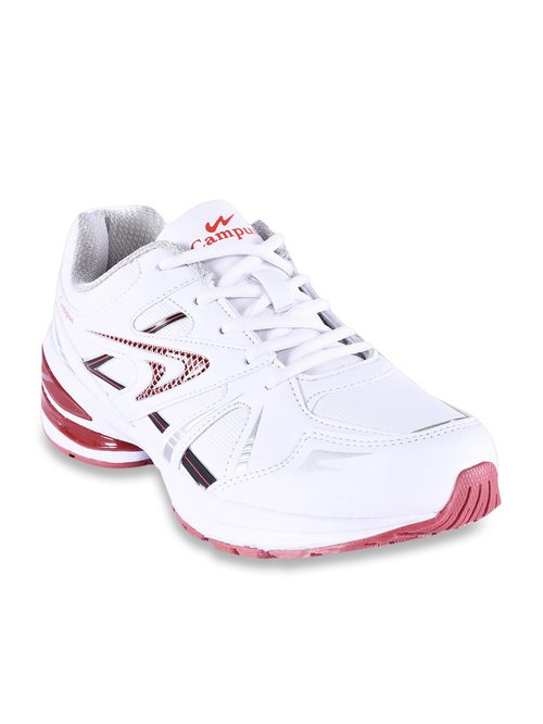Campus Milford-2 White Running Shoes