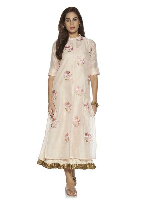 c1d77c95c Buy Vark by Westside Peach Straight Kurta and Maxi Dress Set for Women  Online @ Tata CLiQ