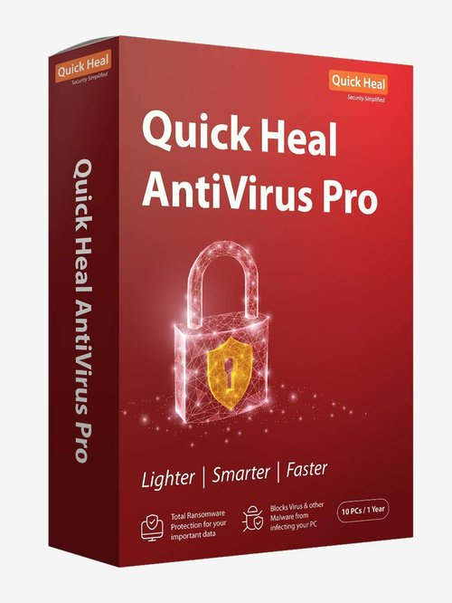 Quick Heal Antivirus Pro - 10 PC for 1 Year (DVD)