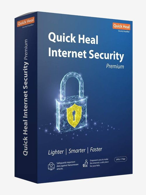 Quick Heal Internet Security - 3 PC for 1 Year (DVD)