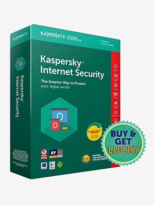 Kaspersky Internet Security 2018 - 5 PC for 1 Year (CD)