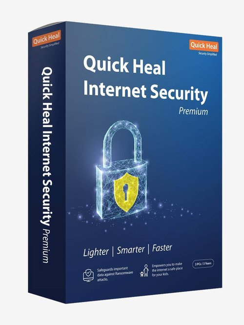 Quick Heal Internet Security Premium - 3 PC for 3 Years (DVD)