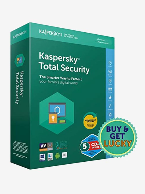 Kaspersky Total Security 2016 - 5 PC for 1 Year (CD)