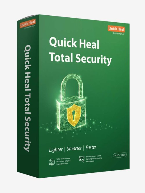Quick Heal Total Security - 10 PC for 1 Year