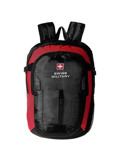 Swiss Military Black Polyester Laptop Backpack