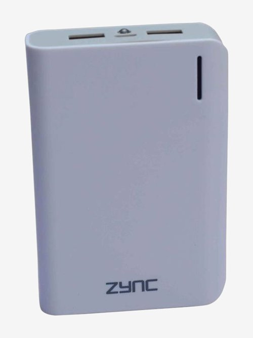 Zync Rock PB99 10400mAh Lithium Ion Power Bank  White
