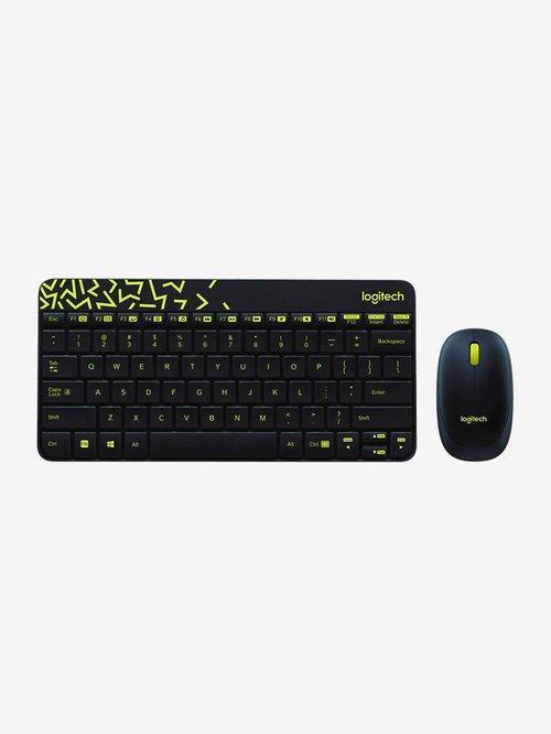 Logitech MK240 NANO Wireless Gaming Keyboard and Mouse  Black/Chartreuse Yellow
